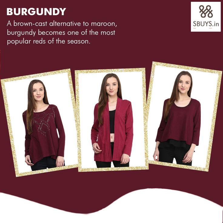 The eye catching color of this Fall Season which will draw some attention! Buy wide range in this hot color for this cold season! www.sbuys.in #sbuys #womenclothing #fashioncolor #fallcolor