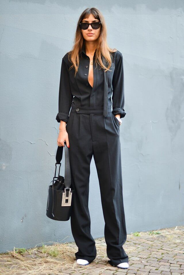 I'm very drawn to this outfit. It just seems the right combination of masculine tailoring with feminine softness.