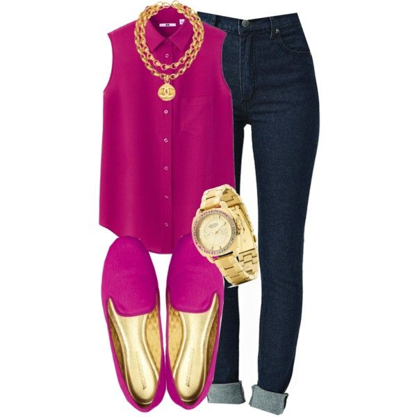 """Silk sleeveless blouse."" by cheerstostyle on Polyvore"