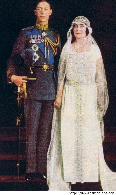 Queen Mother & King George at their wedding in 1923.
