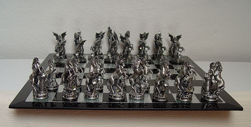 Unicorns Vs Dragons Chess Set Great For Gifts Hint