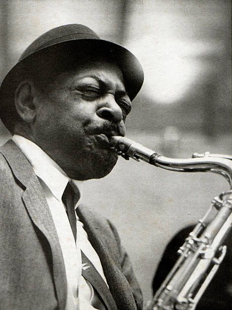 Photo of American tenor sax player Coleman Hawkins