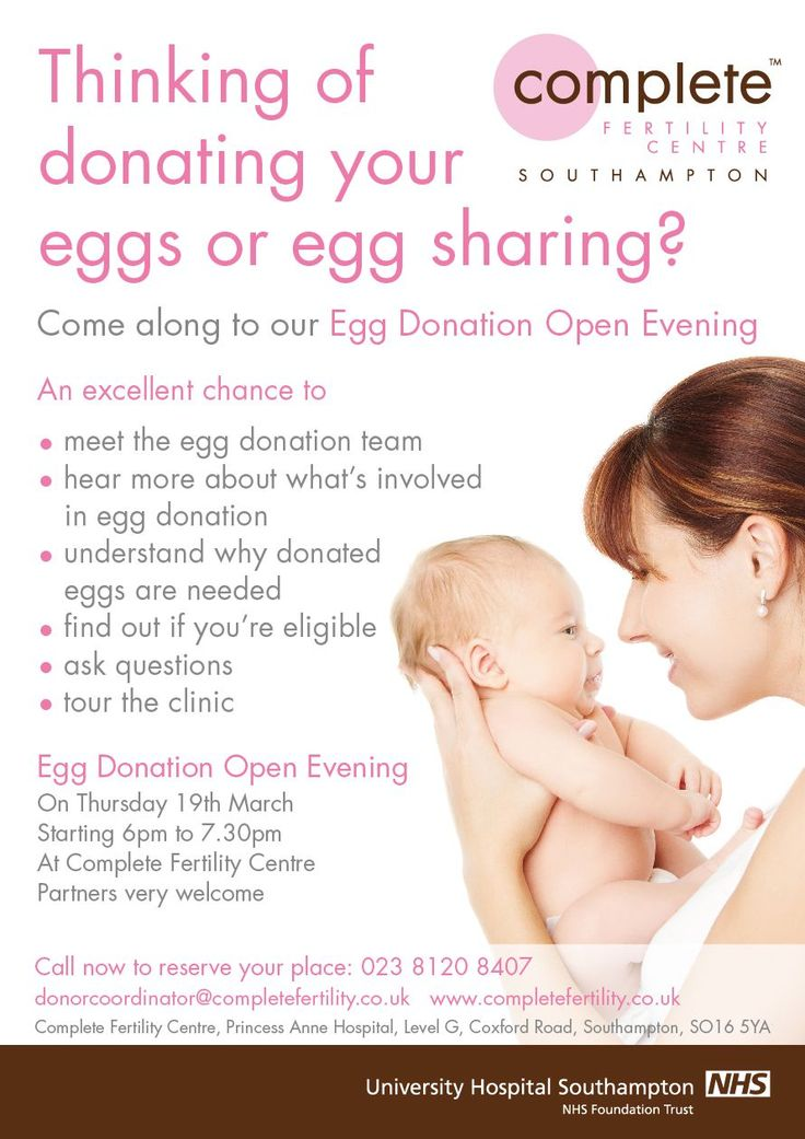 NEW - Egg Donation Open Evening