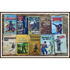 10 x Cowboy Books in Well Used Condition.