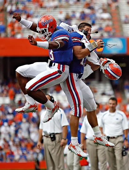 Cam Newton and Tim Tebow, Florida Gators! wait they went to the same school??