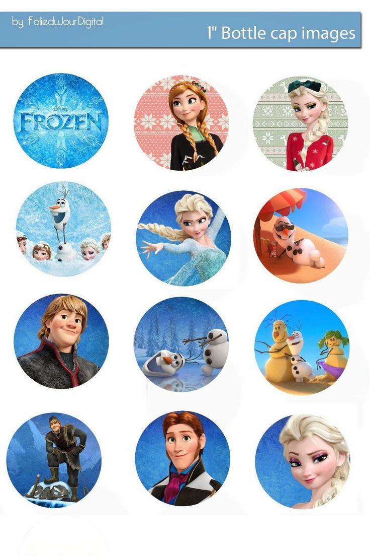 """Free Bottle Cap Images: Frozen free digital bottle cap images 1"""" 1 inch"""