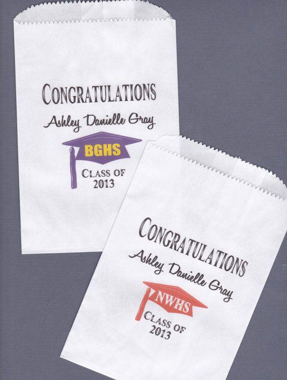 Graduation Candy Buffet Bag Favor Bags Cookie Bar by wreathartist, $30.00
