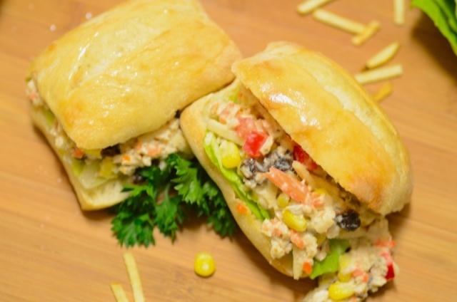 Brazilian-style Chicken Salad Sandwich...Yum!
