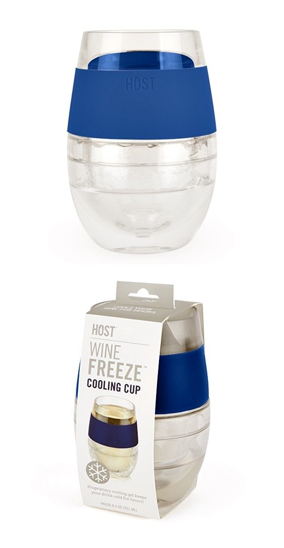 Wine Freeze Cooling Cup In Blue By Host Personalized Gifts And