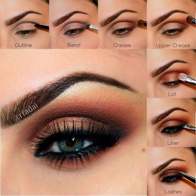 ✨@anastasiabeverlyhills✨ Lavish Palette MAC Paint Pot in PAINTERLY.  OUTLINE the crease area, outer V and lower lash line with ABH Covet Waterproof Eyeliner in LAVISH.  3⃣ Set the CREASE with SIENNA.  4⃣ Add the shade ORANGE SODA to the UPPER CREASE and blend upwards.  5⃣ Add RUM CAKE to the entire lid.