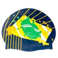 Touca de Natação de Silicone Hammerhead Especial Brasil Flag