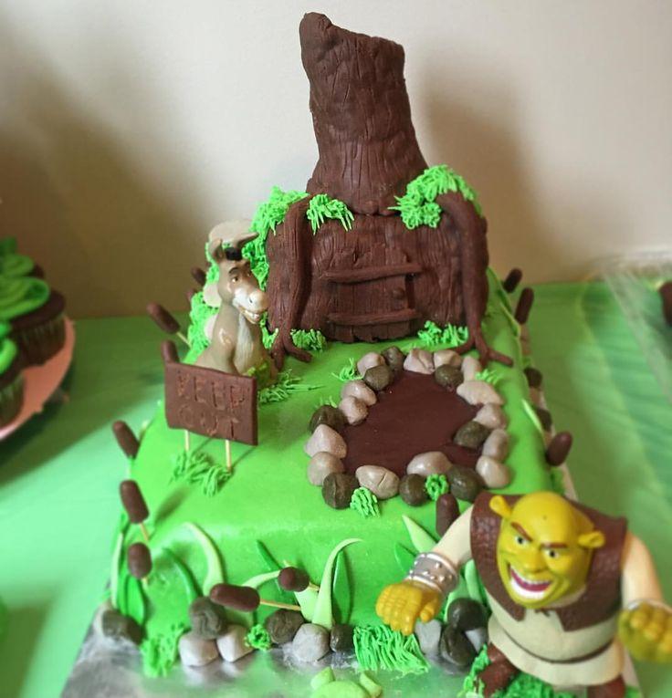 Shrek And Princess Fiona Wedding Cake Toppers