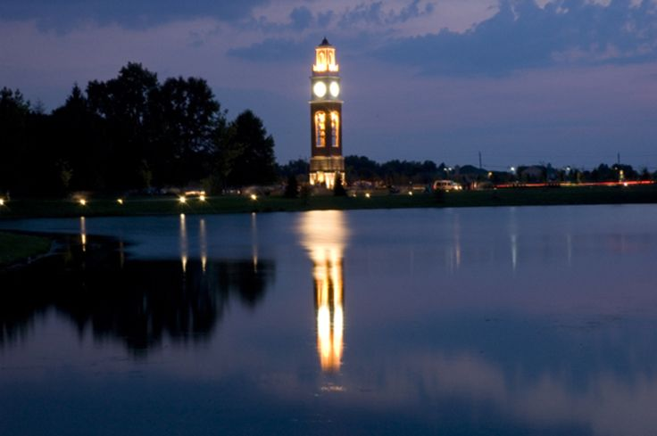 Coxhall Gardens in Carmel, Indiana. Stroll through and enjoy the sounds of the Carillon Bell Towers!