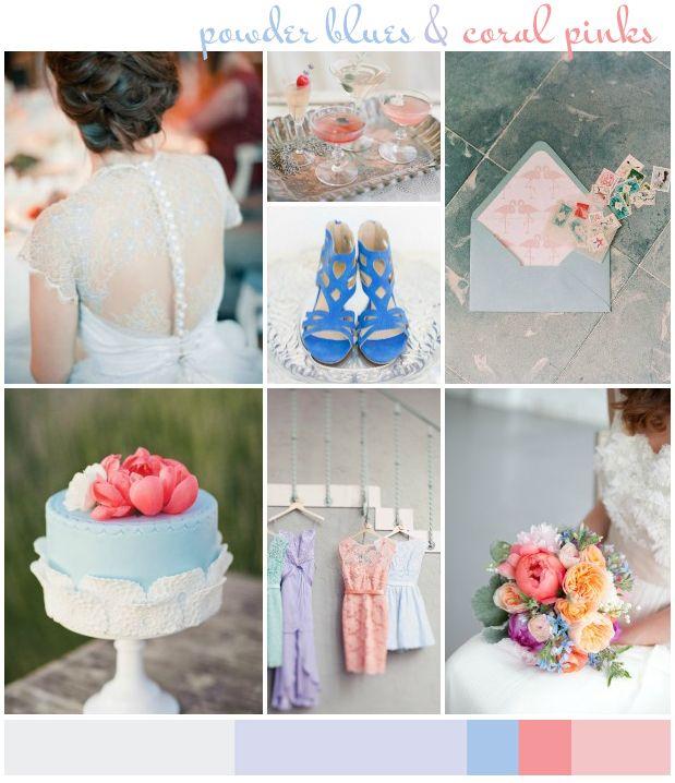 Powder Blues & Coral Pinks | Wedding Inspiration: Colour Ideas