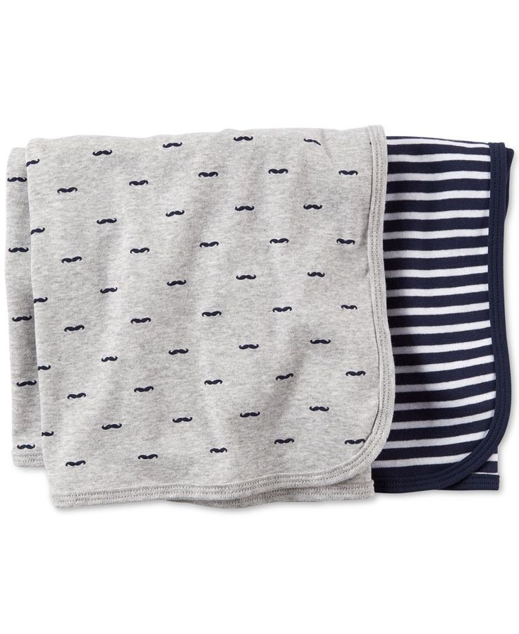 Carter's Baby Boys' 2-Pack Swaddle Blankets
