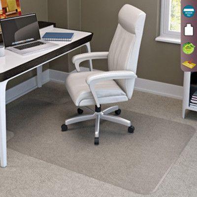 "Deflecto SuperMat Medium Pile Carpet Beveled Edge Chair Mat Size: 36"" x 48"""