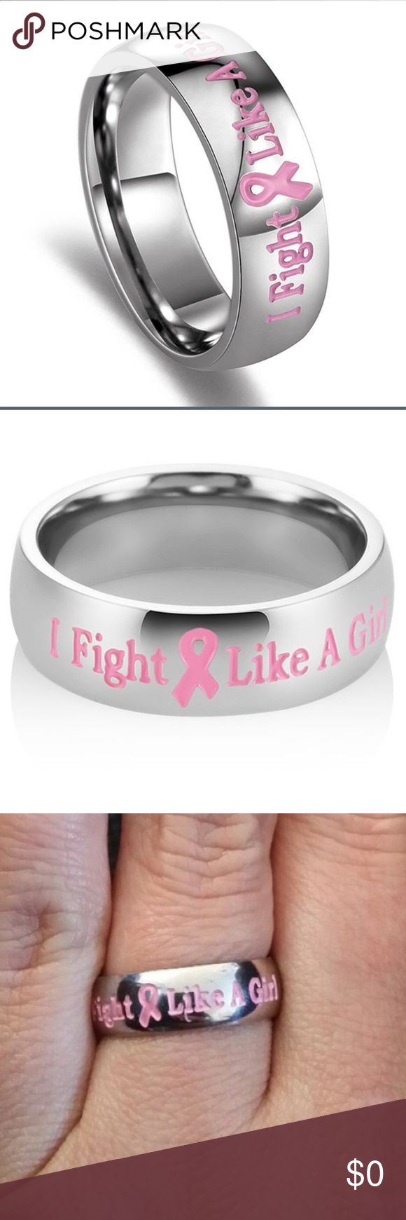 Fight like a girl stainless titanium ring Material 316L Stainless Steel (Titanium Steel) Sizes: US Size. Color : Silver & Pink Milkle Gift offers Great values at affordable Price, mainly made of high quality Stainless Steel, Tungsten, Silver and Leather.  Type 316L stainless steel is an extra-low carbon version of the 316 steel alloy. The lower carbon content in 316L minimizes deleterious carbide precipitation as a result of welding. 316L is used when welding is required in order to ensure…