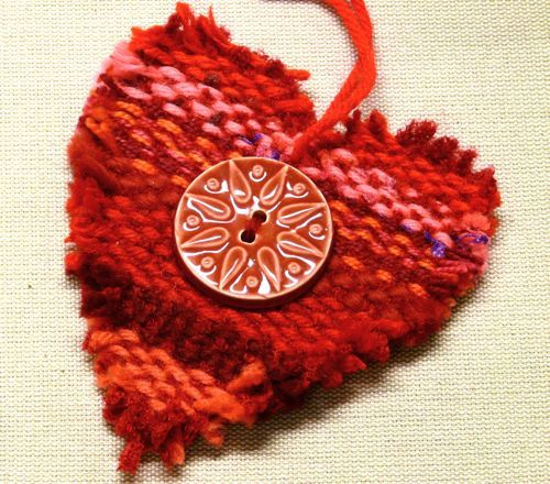 gewebtes Herz  -  wundervoll   --- weaving heart -  wonderful