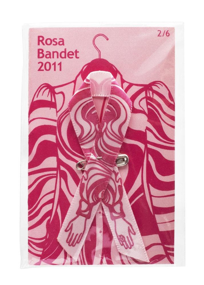Rosa Bandet 2011, en minikollektion i sex olika mönster. Design Per Holknekt och Lena Philipsson.