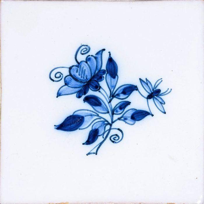 Small Blue Flowers Blue On White Glazed Ceramic Tiles 5x5 Country Floors Of America Llc Blue Flower Tattoos Blue Ink Tattoos Glazed Ceramic Tile