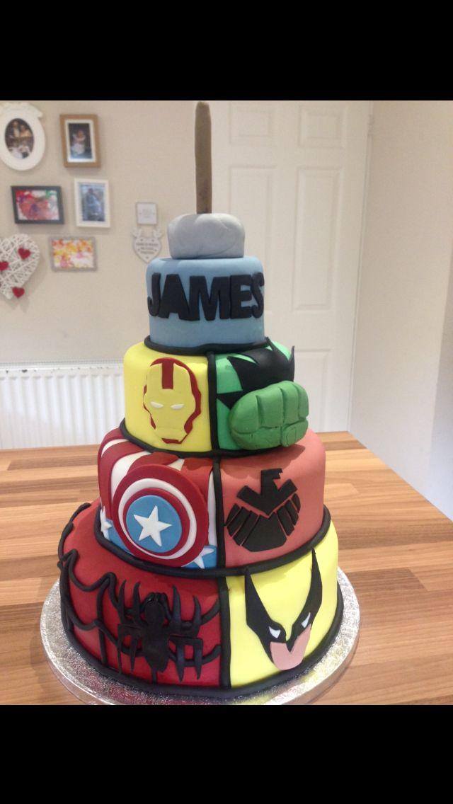 Hawkeye Birthday Cake