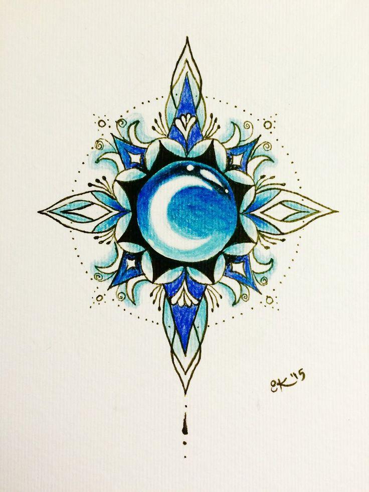 Arctic Moon mandala by SoundStar.deviantart.com on @DeviantArt