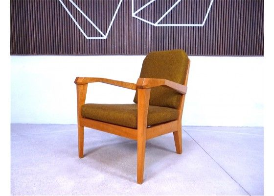 Spectacular  uAnthroposophical u model easy chair was designed by Felix Kayser and manufactured in Stuttgart