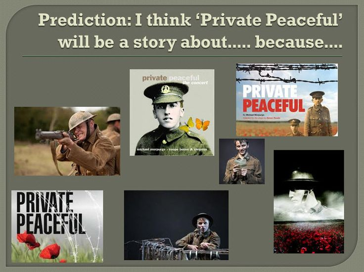 Private Peaceful: SoW - Introductory presentations on Michael Morpurgo's Private Peaceful with activities for the first two chapters.