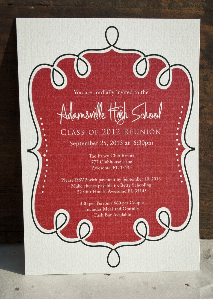 44 best School Reunion images on Pinterest Class reunion ideas - class reunion invitations templates