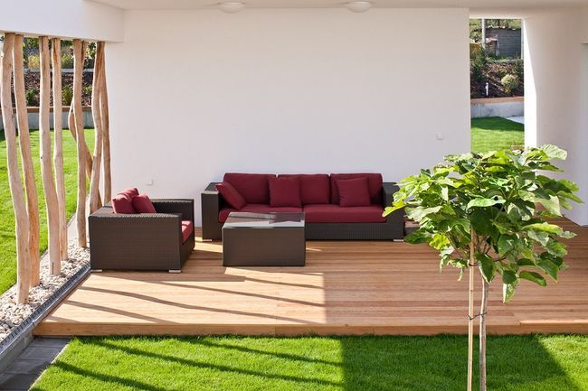 betonnen terras met hout - Google zoeken