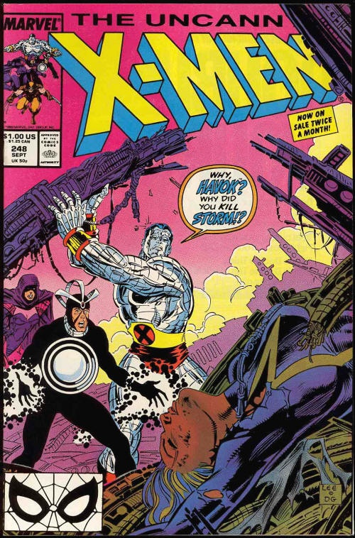 """Chuck's Stuff has this """"Uncanny X-Men"""" #248 Marvel comic book for sale for $8. Near Mint. First Jim Lee art on X-Men, and first print. #comicbooks #jimlee"""