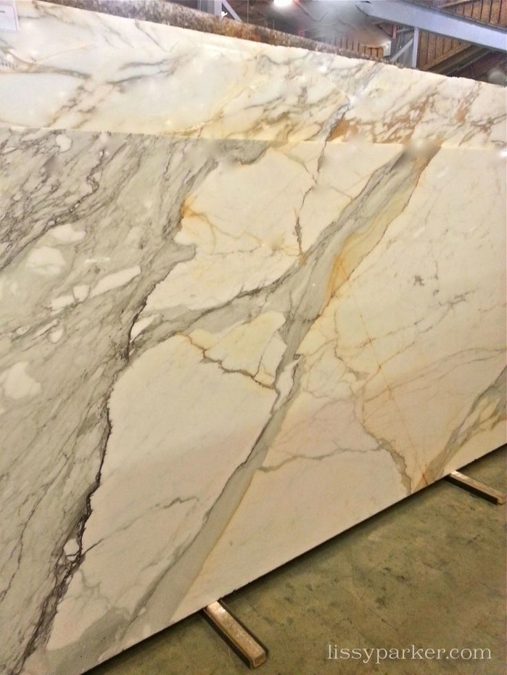 Slab Granite Counters : This lovely slab of calcutta gold marble will be in the
