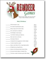 Class Christmas Party idea: game ideas for reindeer games party