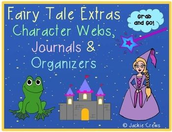 If you are interested in teaching fairy tales, but do not want to invest in big fairy tale bundles, this 23 page product (currently; it's a growing product) might be right for you. Here are 14 graphic organizers designed with graphics from the listed fairy tales and a favorite fairy tale writing page, too.