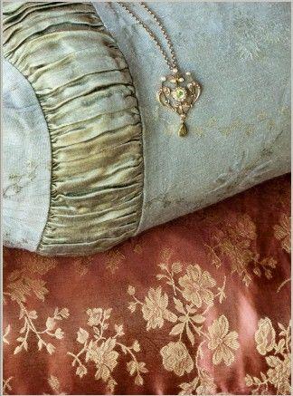 ~: Details, Beautiful, Silk Brocade, 2010 Photo, Vintage Pillows, Photo Shoots, Nott Linens, Sweet Dreams, Bella Nott