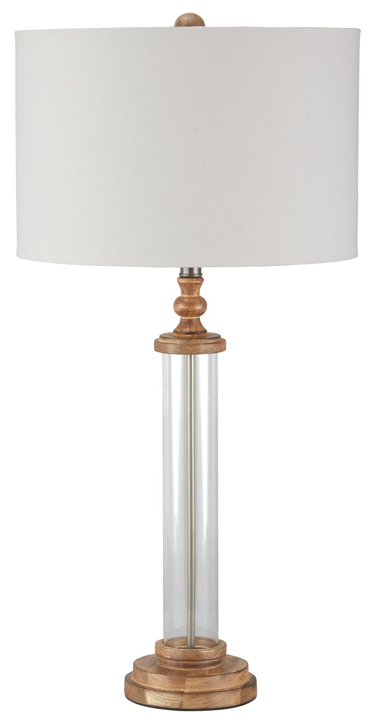 Table lamp vintage style - Lamps Vintage Style Tabby Glass Table Lamp Clear Glass And Wood Table Lamp Drum
