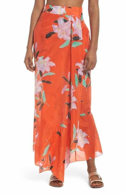 Diane Von Furstenberg Cover-Up Wrap Skirt