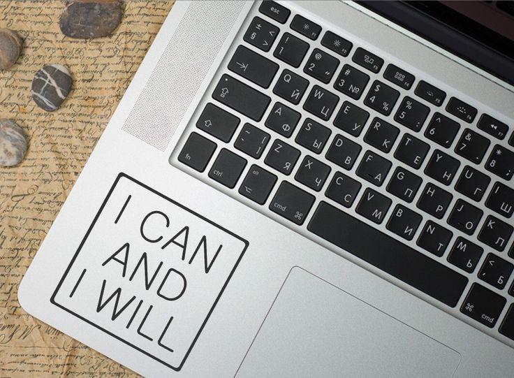 Macbook Aufkleber, Aufkleber [Ich kann und ich Will] Vinyl Aufkleber, Auto Fenster Aufkleber, Laptop Aufkleber, Angebot, Sport Leben motivation von FantaStiCkyShop auf Etsy https://www.etsy.com/de/listing/272453408/macbook-aufkleber-aufkleber-ich-kann-und