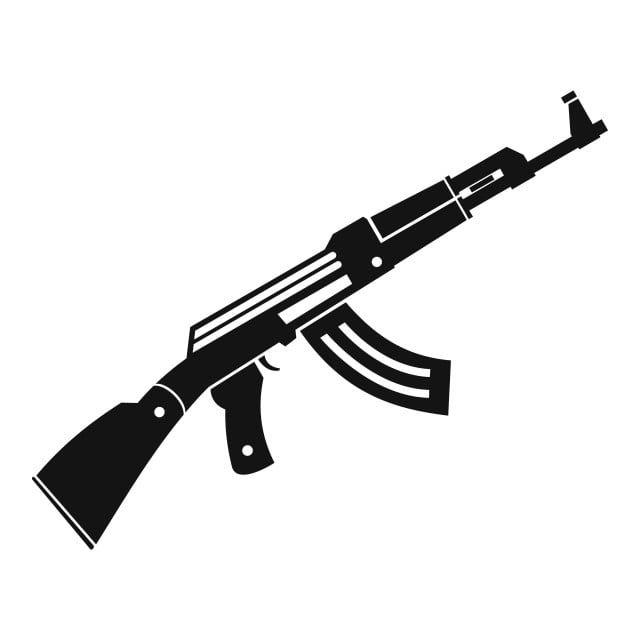 رشاش رمز بندقية أسلوب بسيط Guns Illustration Guns Icon