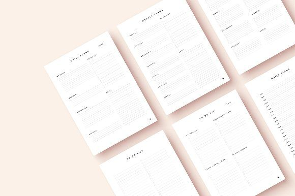 Daily & Weekly Planner  by Wumi Studio on @creativemarket