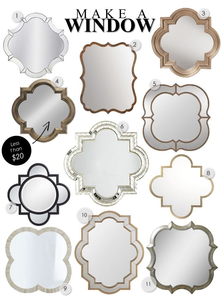 Quatrefoil Mirrors: My Third Row of Windows - Kelley Nan | Favorite quatrefoil mirrors with full source list