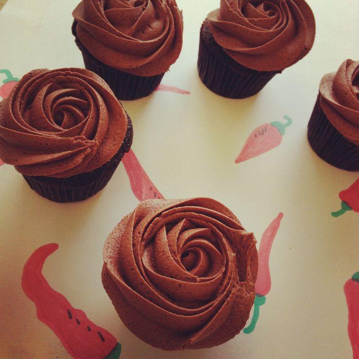 Chilli + Chocolate #cupcakes #petalcupcakes