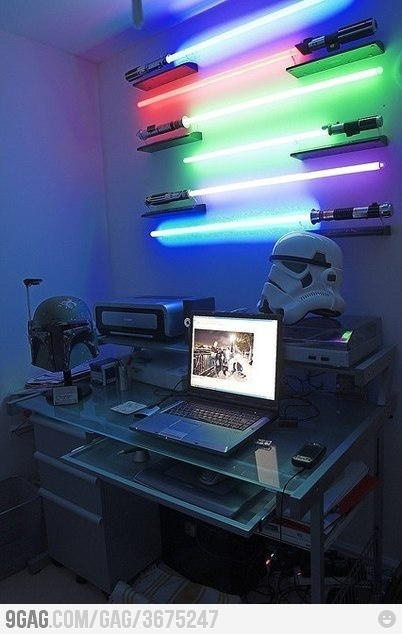 Awesome lamps: Games Rooms, Dreams, Offices Spaces, Stars War Rooms, Desks, Offices Lights, Men Caves, Home Offices, Starwars