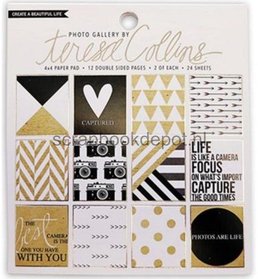 Scrapbookdepot - Teresa Collins Photo Gallery Double-Sided Paper Pad 4x4inch 24/p