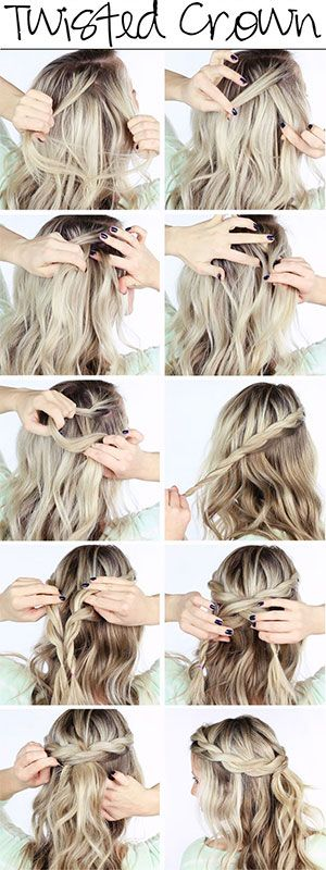 twist crown braid tutorial