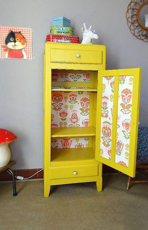 Relooker ses meubles avec du papier peint  6 idées déco originales