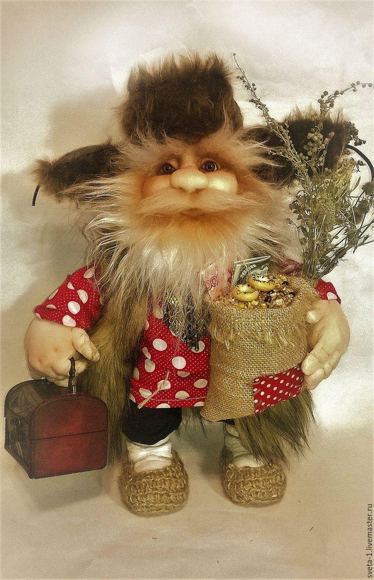 Купить домовой - ярко-красный, домовой, оберег для дома, семейный подарок, интерьерная кукла, капрон