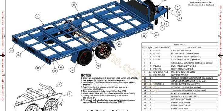 Flat Top Wide Bed Trailer Plans Build Your Own Flat Top