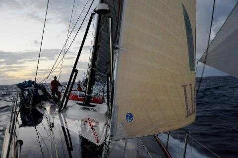 """After meeting the trade winds of the South Pacific, Maserati VOR 70 is now sailing at 16/18 knots speed, with full spinnaker, direction 320 to the Equator. """"We have 1300 miles left to reach the Equator and this passage seems to be tougher than expected"""" says Giovanni Soldini. """"At the moment there is a 300-400 miles area totally covered by equatorial clouds. We hope that the situation will get better in the next days. We should be able to reach the Equator around February, the 6th"""""""
