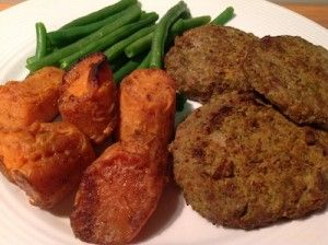 Curried Broccoli and Beef Patties